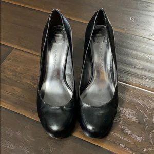 Etienne Aigner Black Leather Heels sz 9